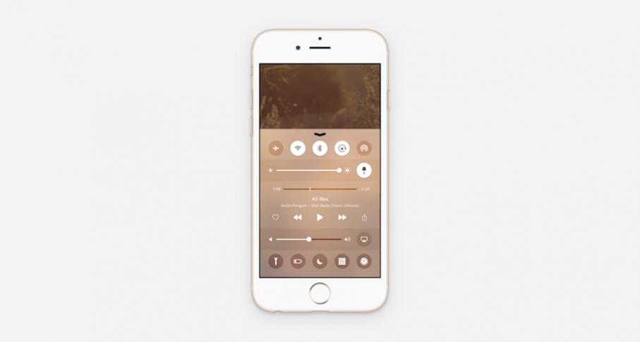 iOS 10 Centro de Control